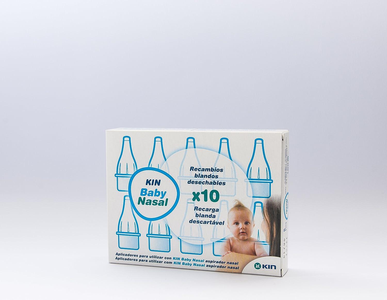 KIN Baby Rec ASPIRA Nasal 10 U, Negro, Estándar: Amazon.es: Hogar