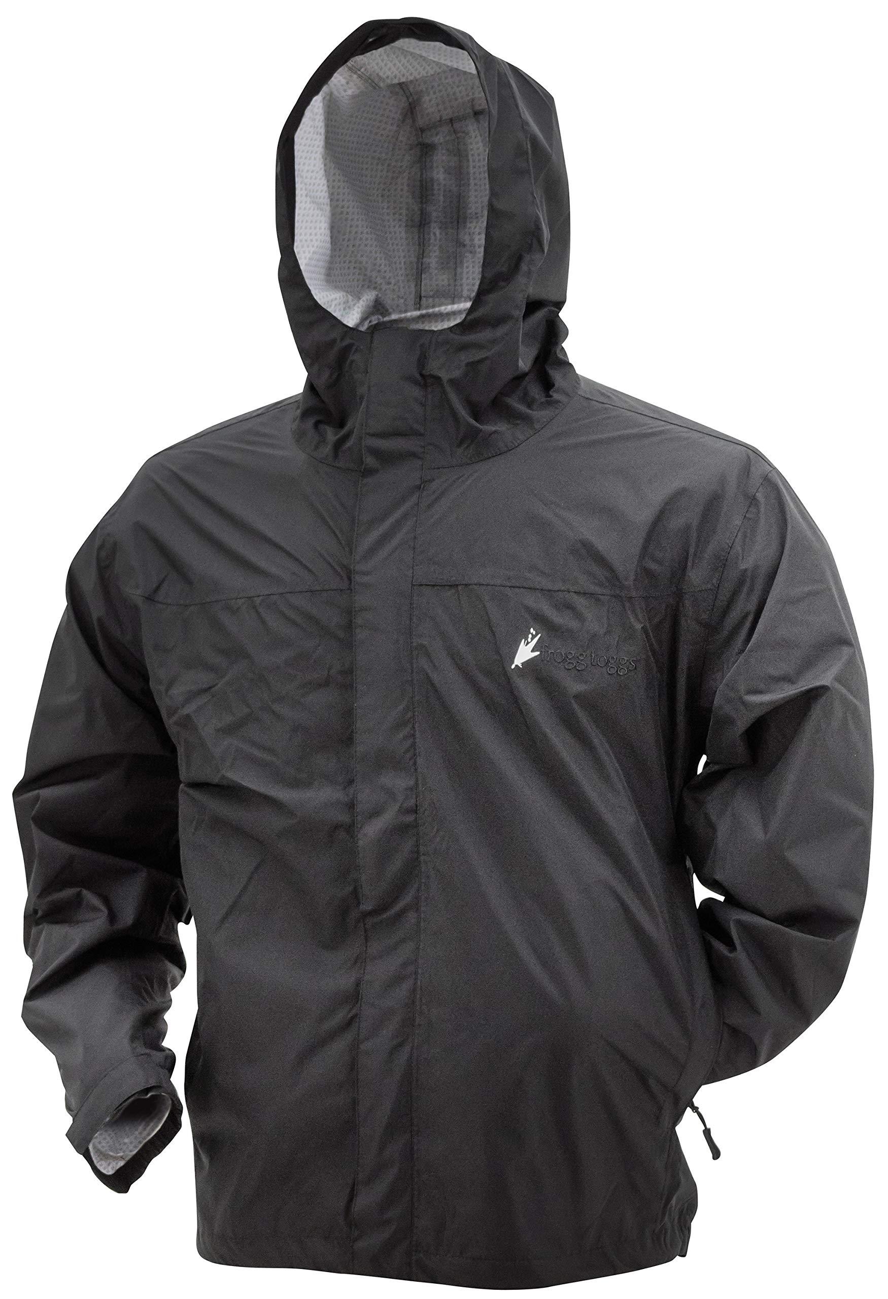 Frogg Toggs Java 2.5 Jacket, Youth, Black, Size Large