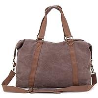 Weimi Vintage Groß Weekender Handgepäck Reisetasche Sporttasche für Damen Herren