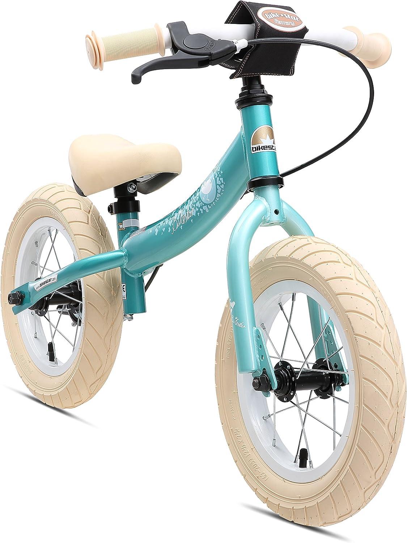 BIKESTAR Bicicleta sin Pedales para niños y niñas   Bici 12 Pulgadas a Partir de 3-4 años con Freno   12