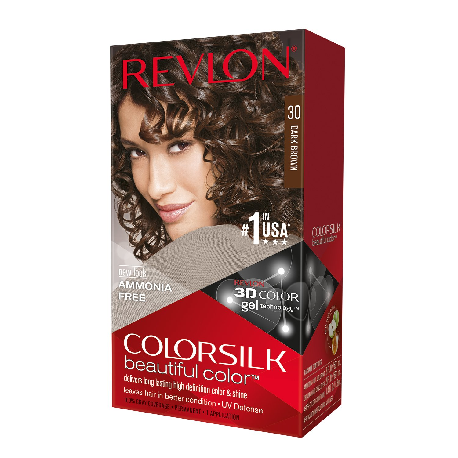 Revlon Color Silk Beautiful Hair Color, Dark Brown 30