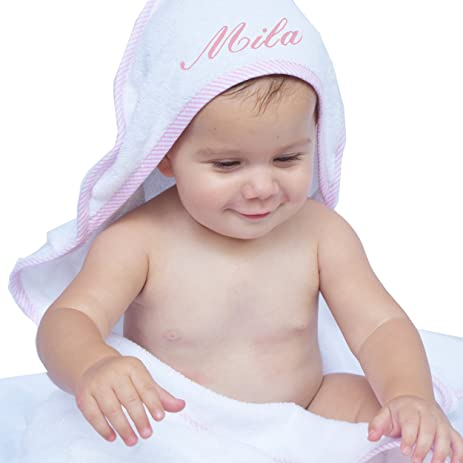 Amazon personalized baby hooded bath towel monogrammed girl personalized baby hooded bath towel monogrammed girl and boy gifts embroidered for free negle Choice Image