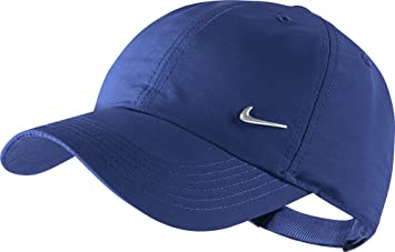 more photos 0cd74 a568a Nike Y Nk H86 Swoosh Cap, Deep Royal Blue Metallic Silver, One Size