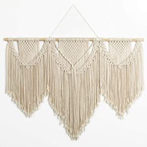 "Mokof Macrame Wall Hanging Large Boho Woven Art Wide Macrame Wall Decor, 43""x32"""