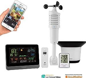 La Crosse Technology C83100-INT WiFi Professional Weather Station, Black