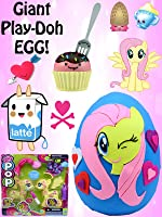 GIANT Fluttershy My Little Pony Play Doh Surprise Egg | BFFS, Shopkins, MLP POP, LPS Fashems