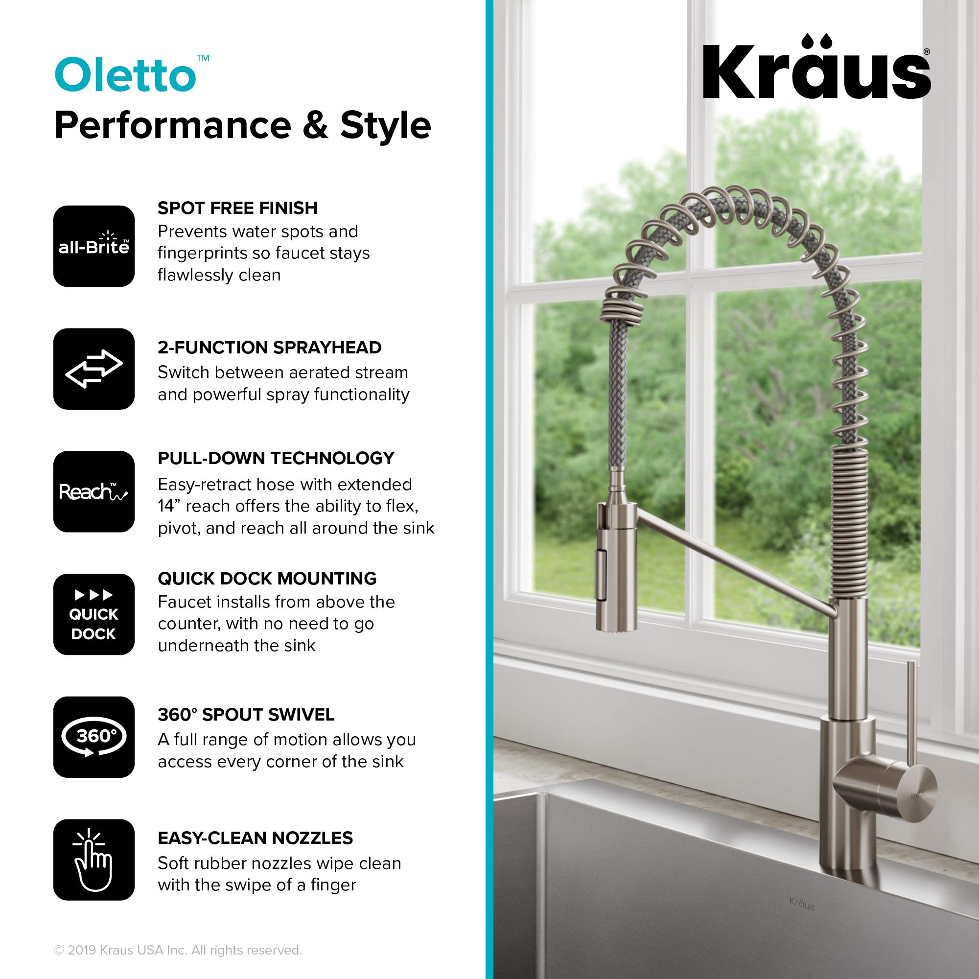 Kraus KPF-2631SFS Oletto Kitchen Faucet, 21.75 inch, Spot Free Stainless Steel by Kraus (Image #8)