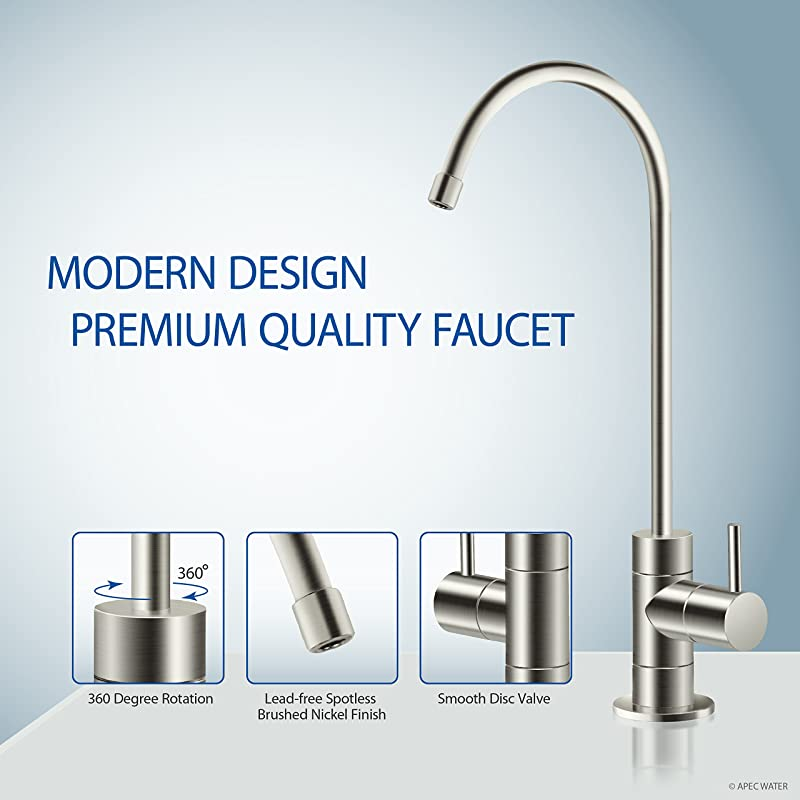 APEC Water ROES pH+ 75 system comes with Lead-free faucet