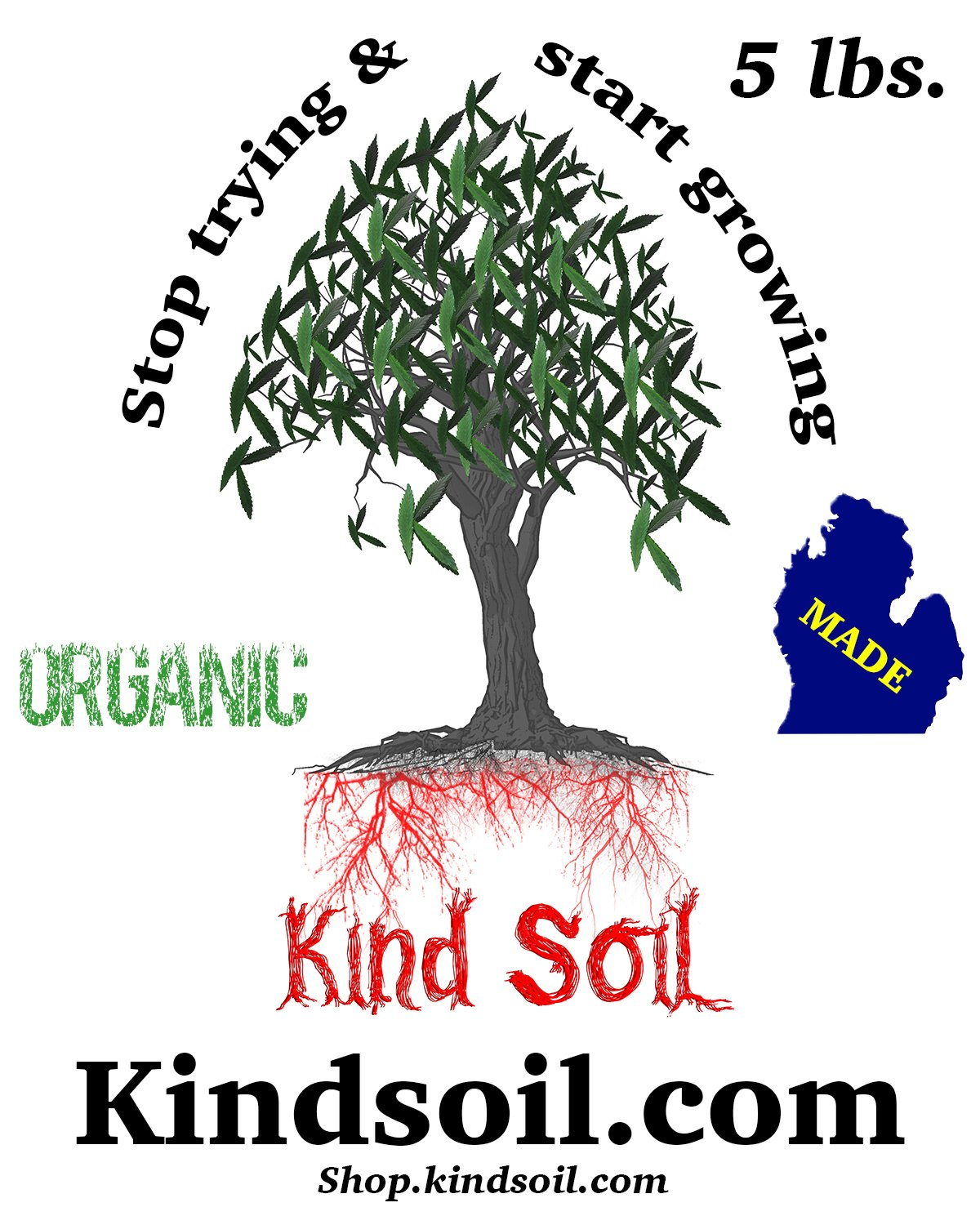 Kind Soil Hot Soil Product single 5 lb. Bag