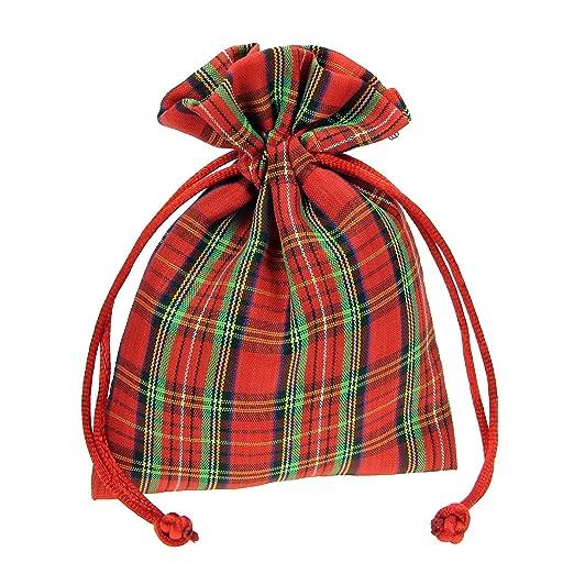 Alices decorations - 100 bolsitas escocesas de algodón para ...