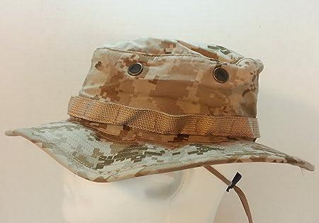 USMC DIGITAL DESERT MARPAT  (MARINE PATTERN ) BOONIE HAT FIELD COVER USMC  ISSUE SEKRI INDUSTRIES 2506e2adfe2