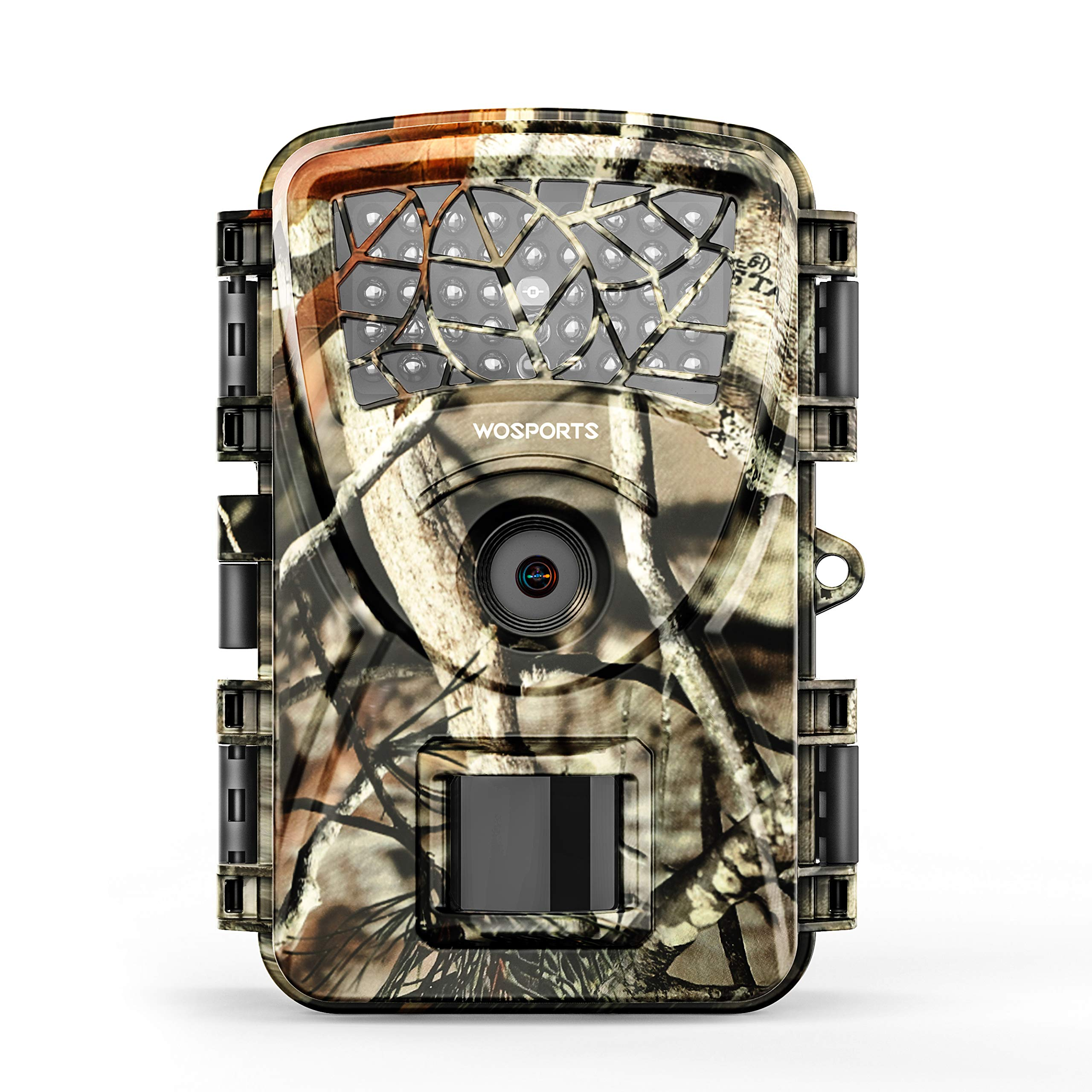 Trail Camera Hunting Game Camera, 2019 Upgraded Motion Activated Night Vision up to 65ft,1080P Full HD Waterproof Wildlife Scouting Monitoring Home Security Camera, 88D (Trail Camera-Camo) by WOSPORTS