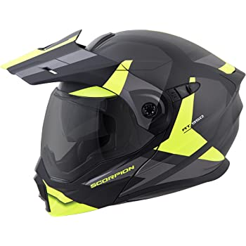 ScorpionEXO Unisex-Adult Modular/Flip Up Adventure Touring Motorcycle Helmet (Hi-Viz, XXX-Large) (EXO-AT950 Neocon)