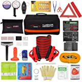 Vetoos Roadside Emergency Car Kit with Jumper Cables, Auto Vehicle Safety Road Side Assistance Kits, Winter Car Kit for Women