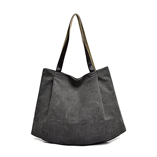 d941942551f3 Amazon.com  Mfeo Womens Canvas Handbag Large Shoppingbag Shoulder Bag Tote(Interlayer)   Shoes