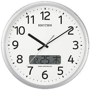 RHYTHM リズム 電波 掛け時計 プログラムカレンダー01SR 4FNA01SR19
