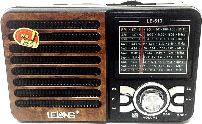 RADIO RETRO AM FM COM USB SD 9 BANDAS CAIXA DE SOM ESTILO ANTIGO RECARREGAVEL por Lelong