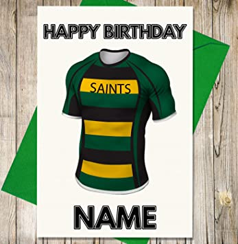 Amazon Akgifts Northampton Saints Rugby Shirt Personalised