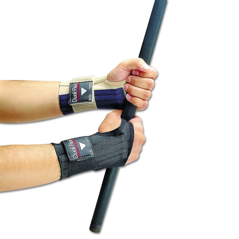 Black Allegro 721204 Dual-Flex Wrist Supports X-Large Nylon