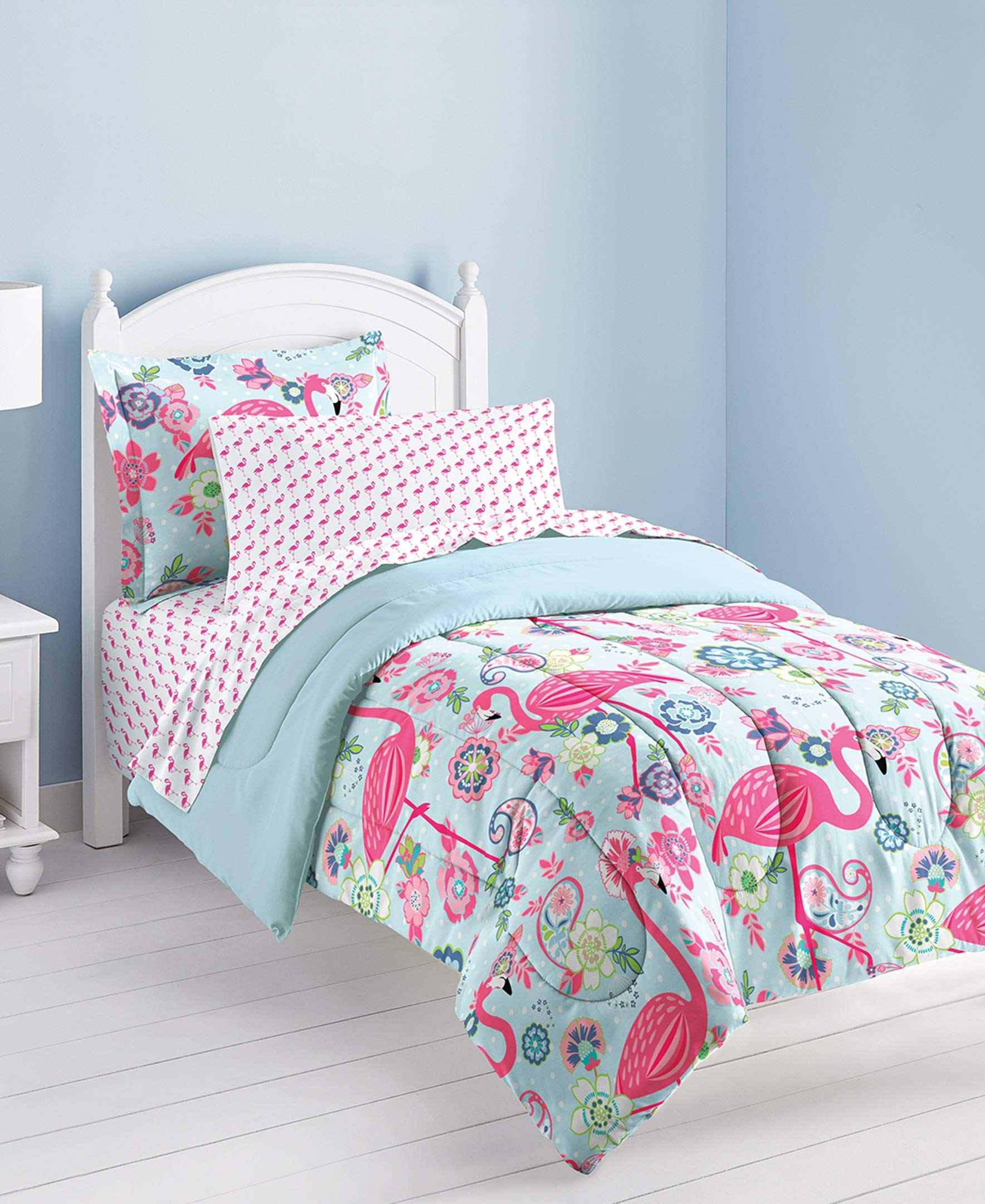 Dream Factory Flamingo Comforter Set, Pink, Twin by Dream Factory (Image #1)