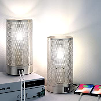 2-Pack Folksmate 3 Way Touch Control Table Lamp