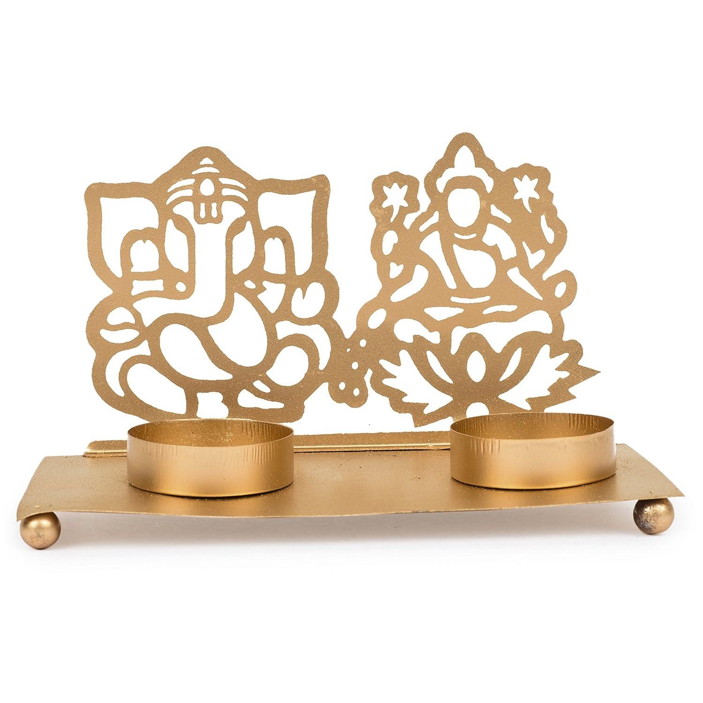 la maison Bougeoir chauffe-plat Laxmi et Ganesh en m/étal le salon et le bureau pour la d/écoration de la table Par Hashcart