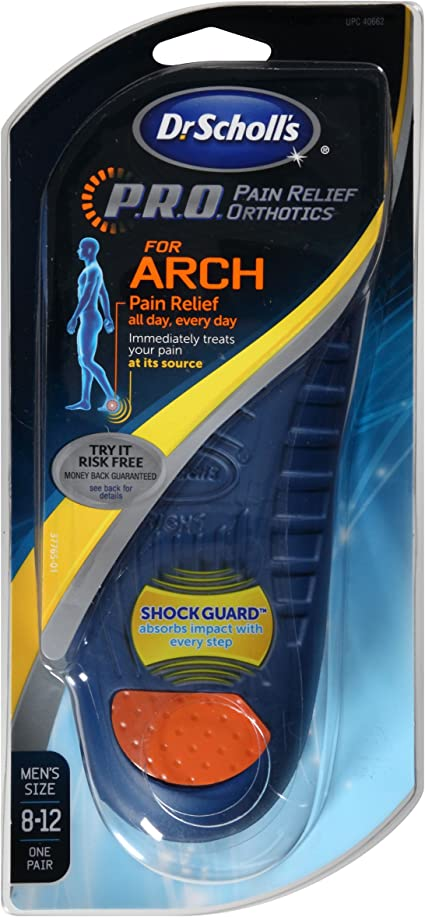 P.R.O. Pain Relief Orthotics for Arch