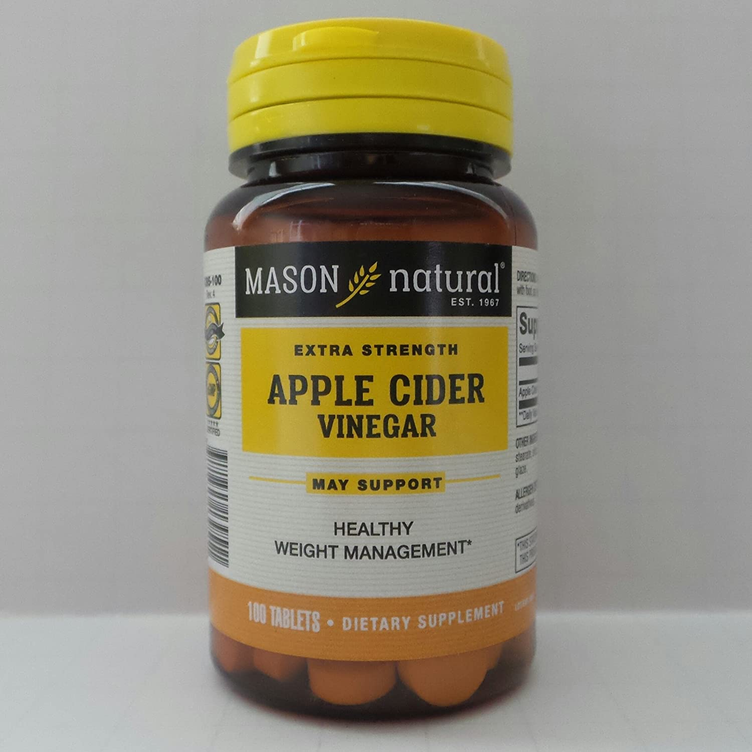 Mason Apple Cider ES Ving Size 100ct Mason Apple Cider ES Ving Tabs 100ct