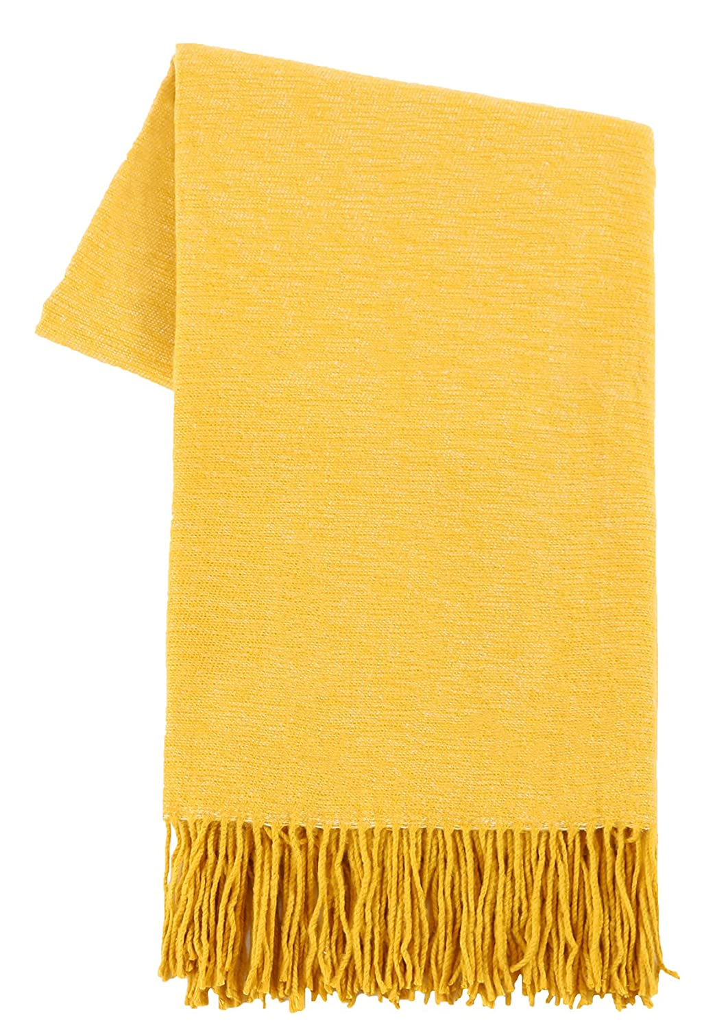 "Slpr Decorative Soft Indoor/Outdoor Throw Blanket (50"" X 60"", Yellow) 