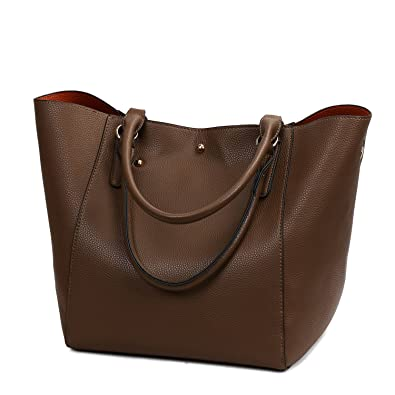 9ab928e08a90 Tote Bag, Ladies Leather Handbags Large Shoulder Work Bags Top Hand Satchel  for Women a Set of Two