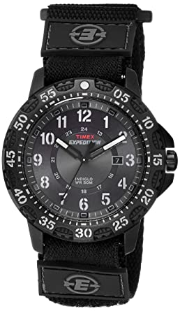 amazon com timex men s t49997 expedition gallatin black fast wrap rh amazon com Timex Indiglo Watches Indiglo Watch at Night