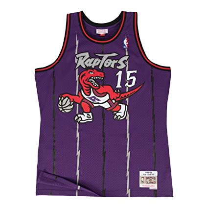 02fb59c9908 Mitchell & Ness Vince Carter Toronto Raptors Purple Throwback Swingman  Jersey 5XL