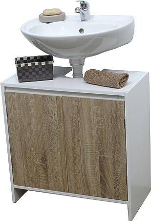 Mueble para debajo del lavabo o fregadero -2 puertas y 1 estantería - Estilo escandinavo