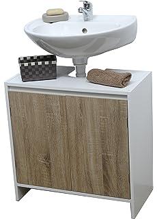 evideco bath under sink storage vanity cabinet montreal natural oak