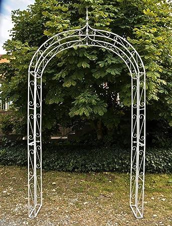 Arco para rosal para jardín de hierro blanco antiguo – 264 x 147 x 37 cm – PEGANE -: Amazon.es: Hogar