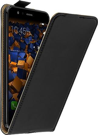 Mumbi Echt Leder Flip Case Kompatibel Mit Huawei P10 Lite Hülle Leder Tasche Case Wallet Schwarz Elektronik