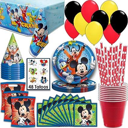 Amazon.com: Mickey Mouse suministros para fiestas, sirve 16 ...