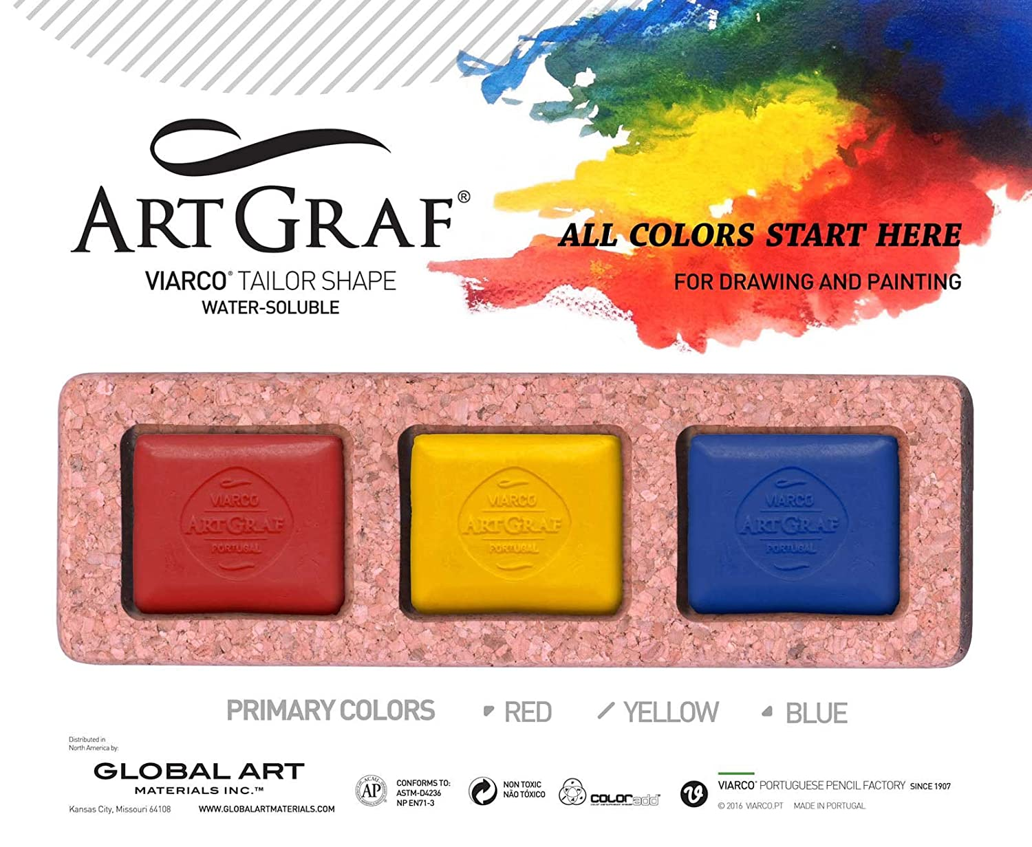 Artgraf Water Soluble Primary 3-Color Set GLOBAL ART MATERIAL