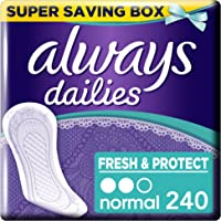 Always Dailies Fresh and Protect Panty Liners Normal 4 x 60 - Super Saving Box