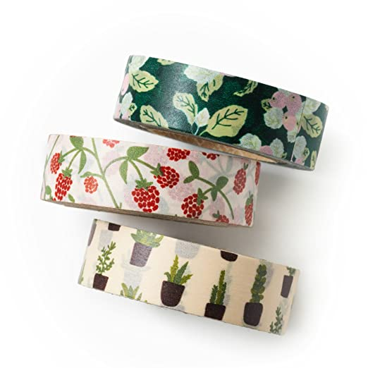 Love My Tapes - New Leaf - Value Pack - DIY - Packaging - Decorative Tape - Farm - Raspberry - Cactus