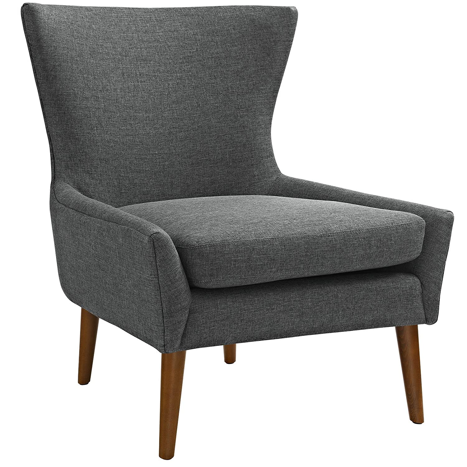 Modway Keen Upholstered Fabric Armchair in Gray