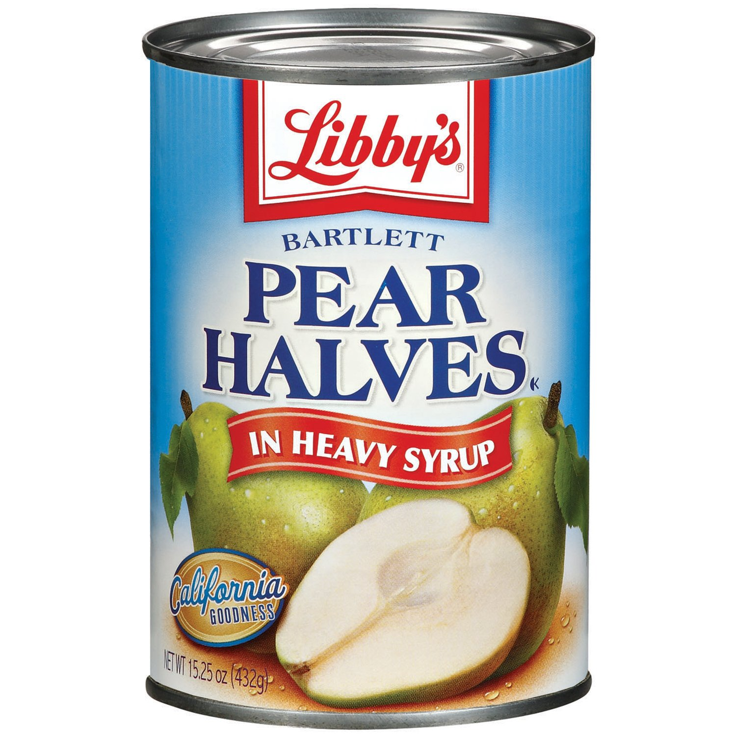 Libby's Pear Halves In Heavy Syrup, 14 Pound (Pack of 12)