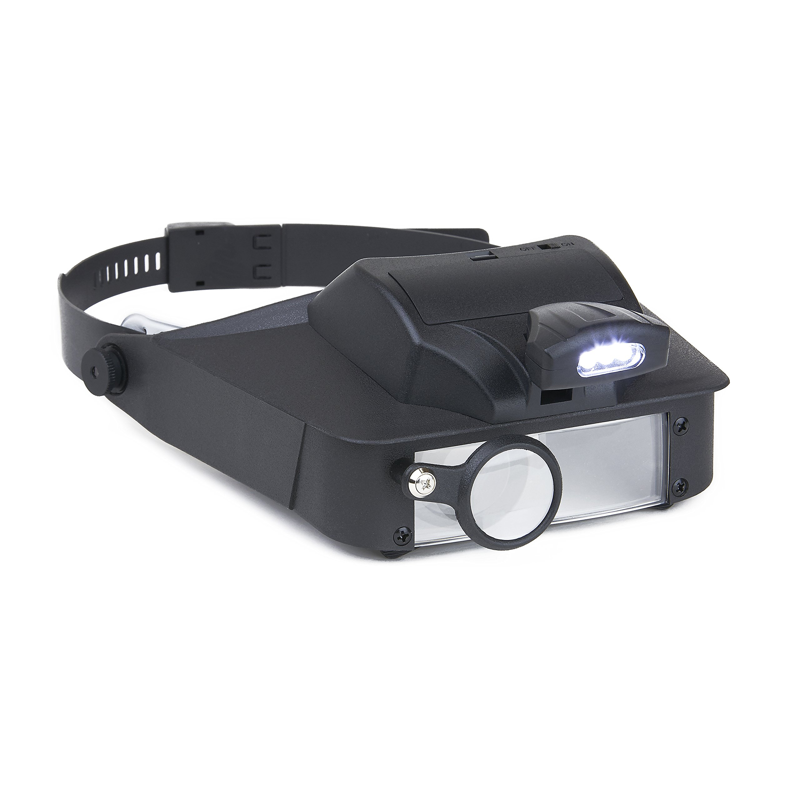 Carson LumiVisor Head Magnifier - Head Visor with LED Lighted Magnifier (2x/3x/5x/6x)  (LV-10) by Carson