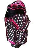 Molhimawk Women's M2500 Cart Bag, Pink Polka