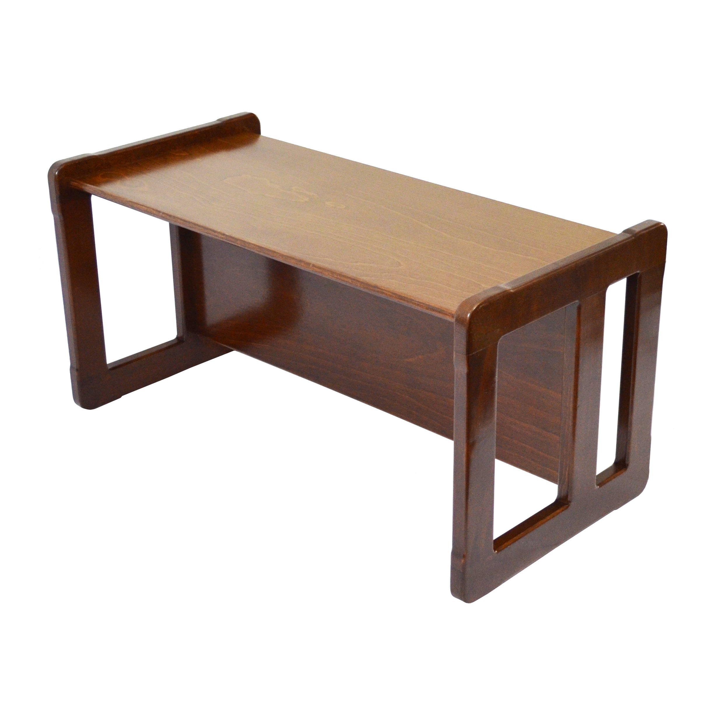 3 in 1 Childrens Multifunctional Furniture Set of 4, Two Small Chairs or Tables and One Small Bench or Table and One Large Bench or Table Beech Wood, Dark Stained by Obique Ltd (Image #7)