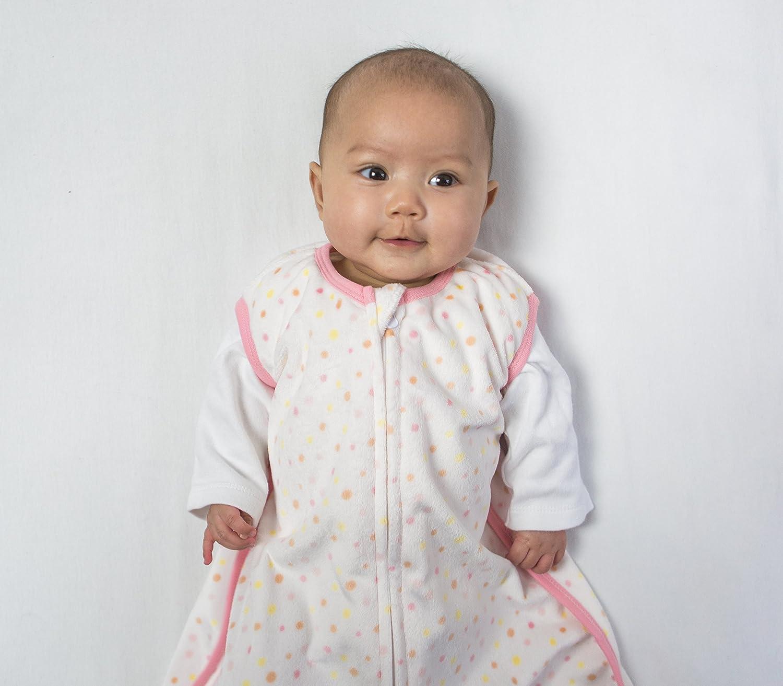 Amazing Baby by Swaddledesigns Lunares Divertidos Aguamarina 12-18 Meses Grande Saquito de Dormir de Microfibra Para Beb/é con Cremallera de 2 V/ías