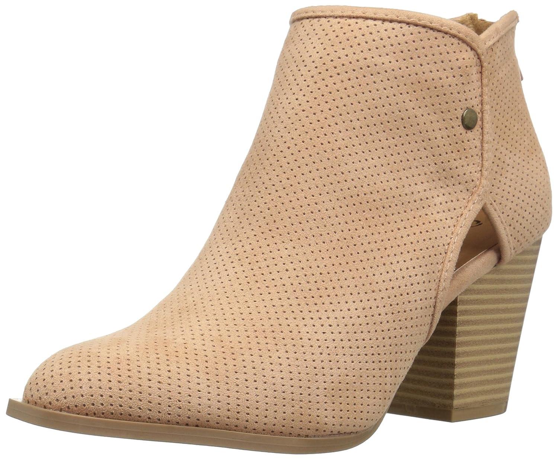 Qupid Women's Prenton-02 Ankle Bootie B06XSMJP82 10 B(M) US|Blush Suede Polyurethane
