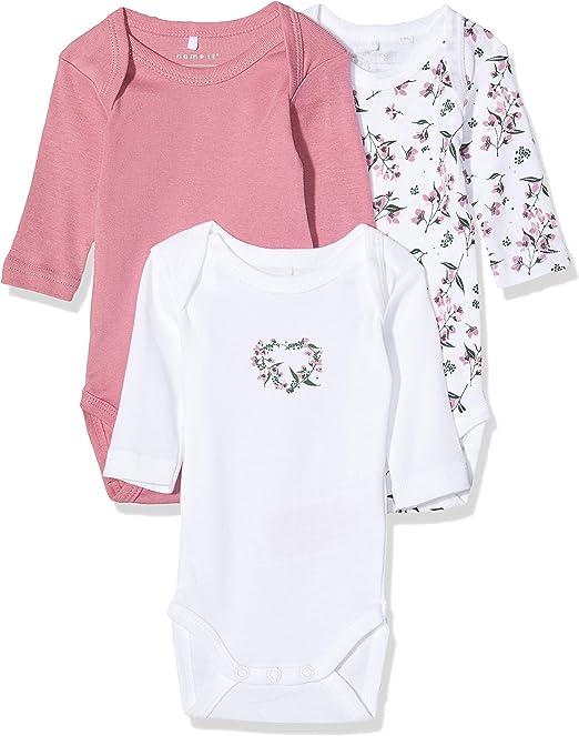NAME IT Body (Pack de 3) para Bebés: Amazon.es: Ropa y accesorios