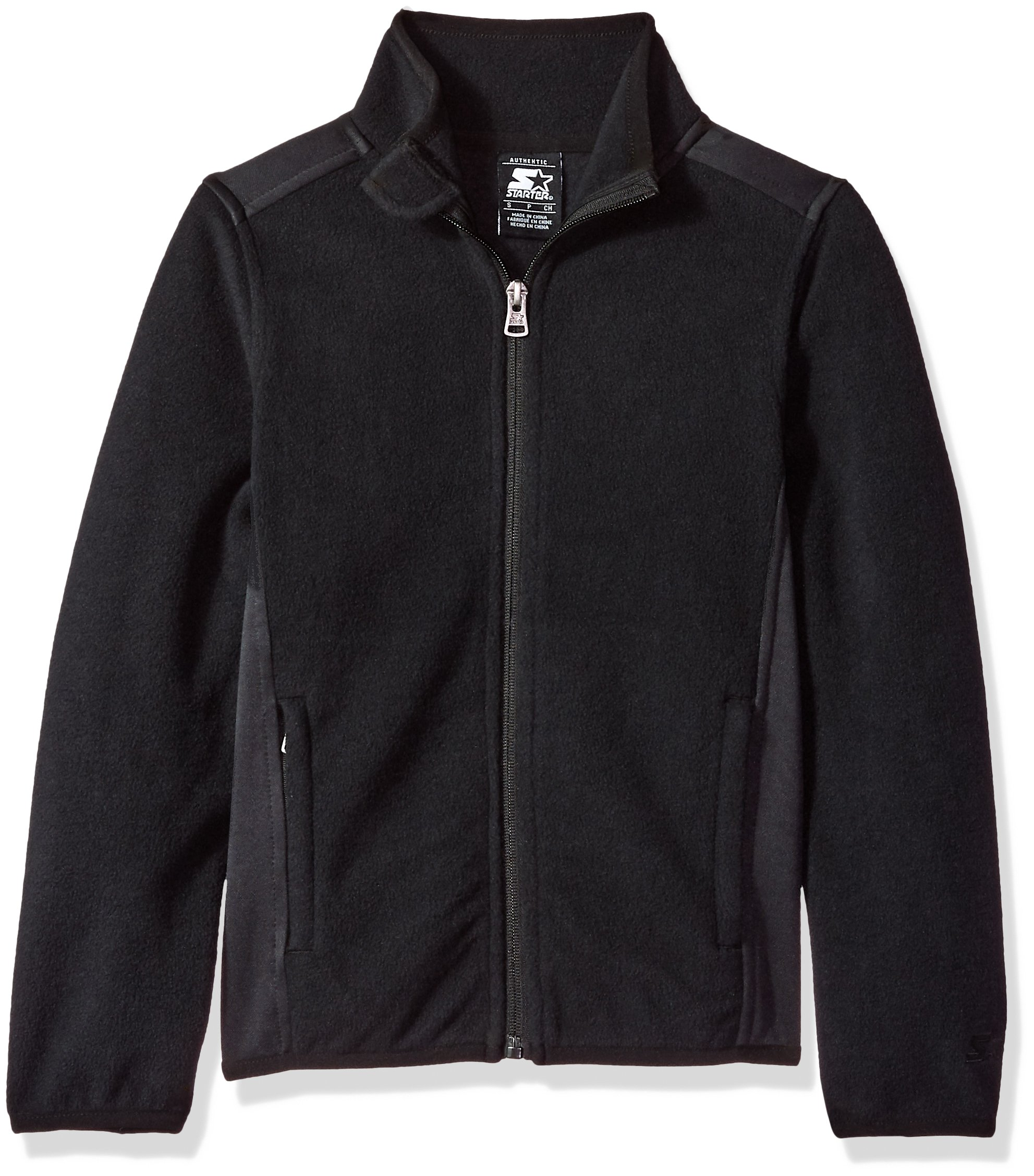 Starter Girls' Polar Fleece Jacket, Prime Exclusive, Black, L (10/12)