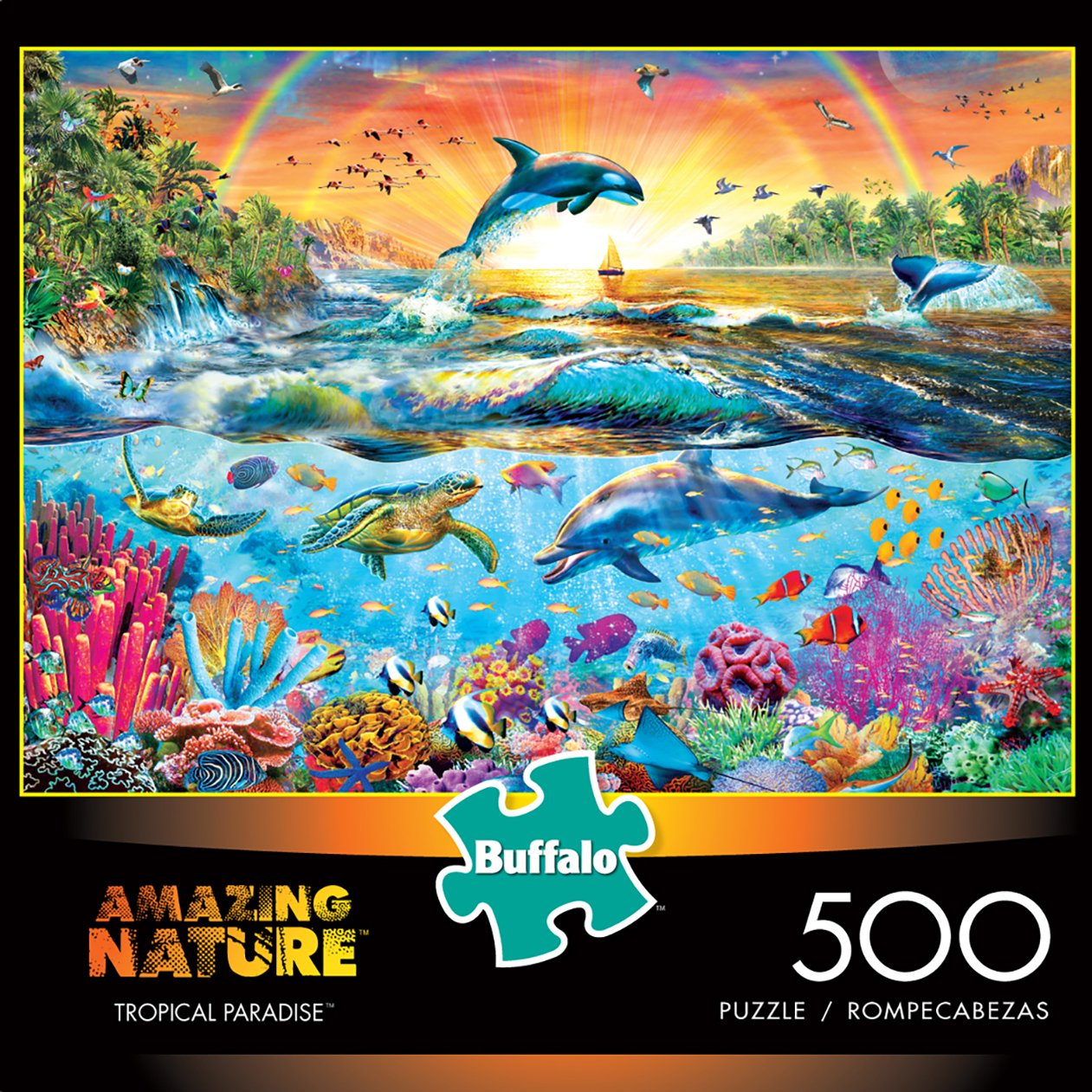 Buffalo Games Tropical Paradise from The Amazing Nature Collection Jigsaw Puzzle 500 Piece